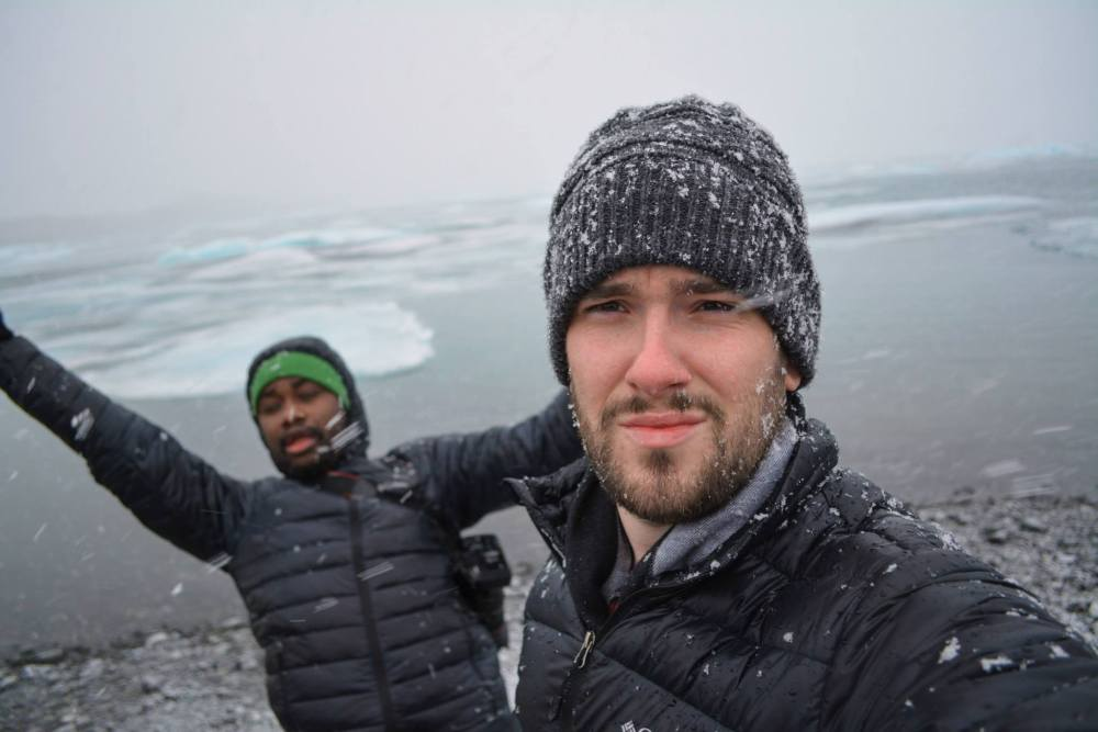 Lloyd and Yaya at Jökulsárlón - The Glacier Lagoon in Iceland