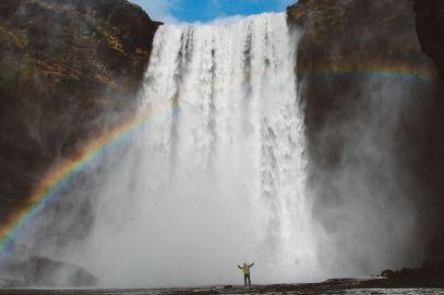 Seljalandsfoss and Skógafoss Waterfalls in Iceland plus Icelandic Lamb and rainbows (43)