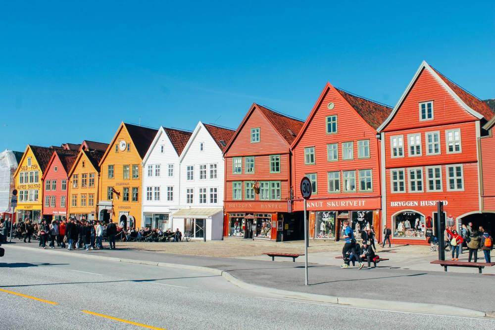 The UNESCO World Heritage Site of Bryggen... In Bergen, Norway. (20)