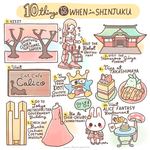 10 Things To Do In Shinjuku, Japan