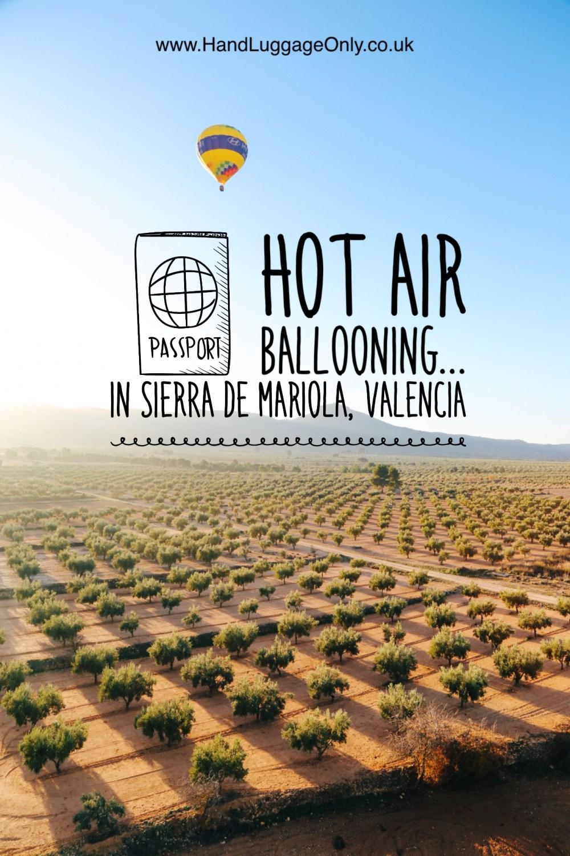 Hot Air Balloon Sunrise... In Sierra De Mariola, Valencia