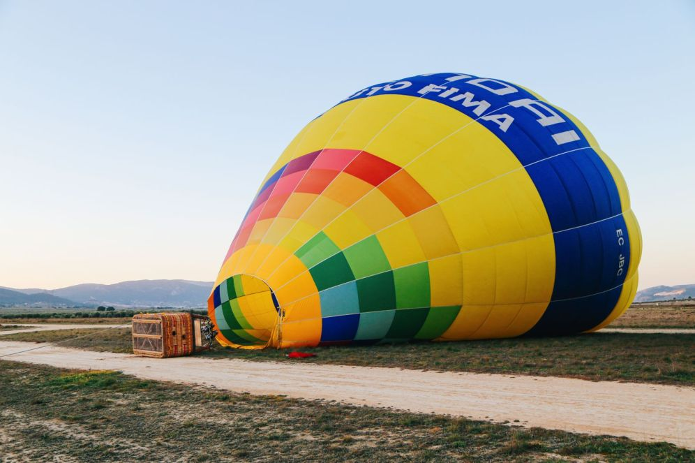 Hot Air Balloon Sunrise... In Sierra De Mariola, Valencia (1)