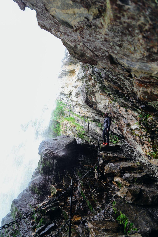 Exploring Storseterfossen Waterfall - A Waterfall In Norway You Can Walk Behind! (25)