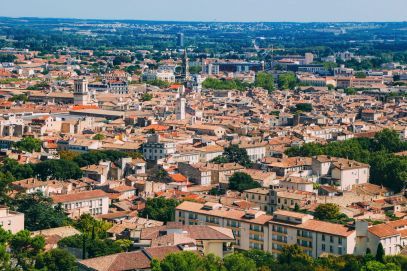 The Beautiful Roman City Of Nimes... In France (77)