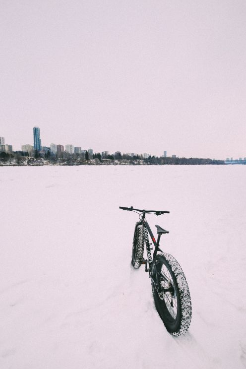 Fat Biking Across The Frozen River Valley To The Ice Castles Of Edmonton, Canada (22)