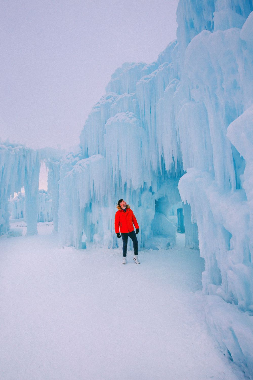 Fat Biking Across The Frozen River Valley To The Ice Castles Of Edmonton, Canada (31)