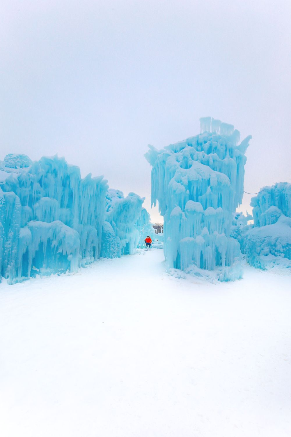 Fat Biking Across The Frozen River Valley To The Ice Castles Of Edmonton, Canada (50)