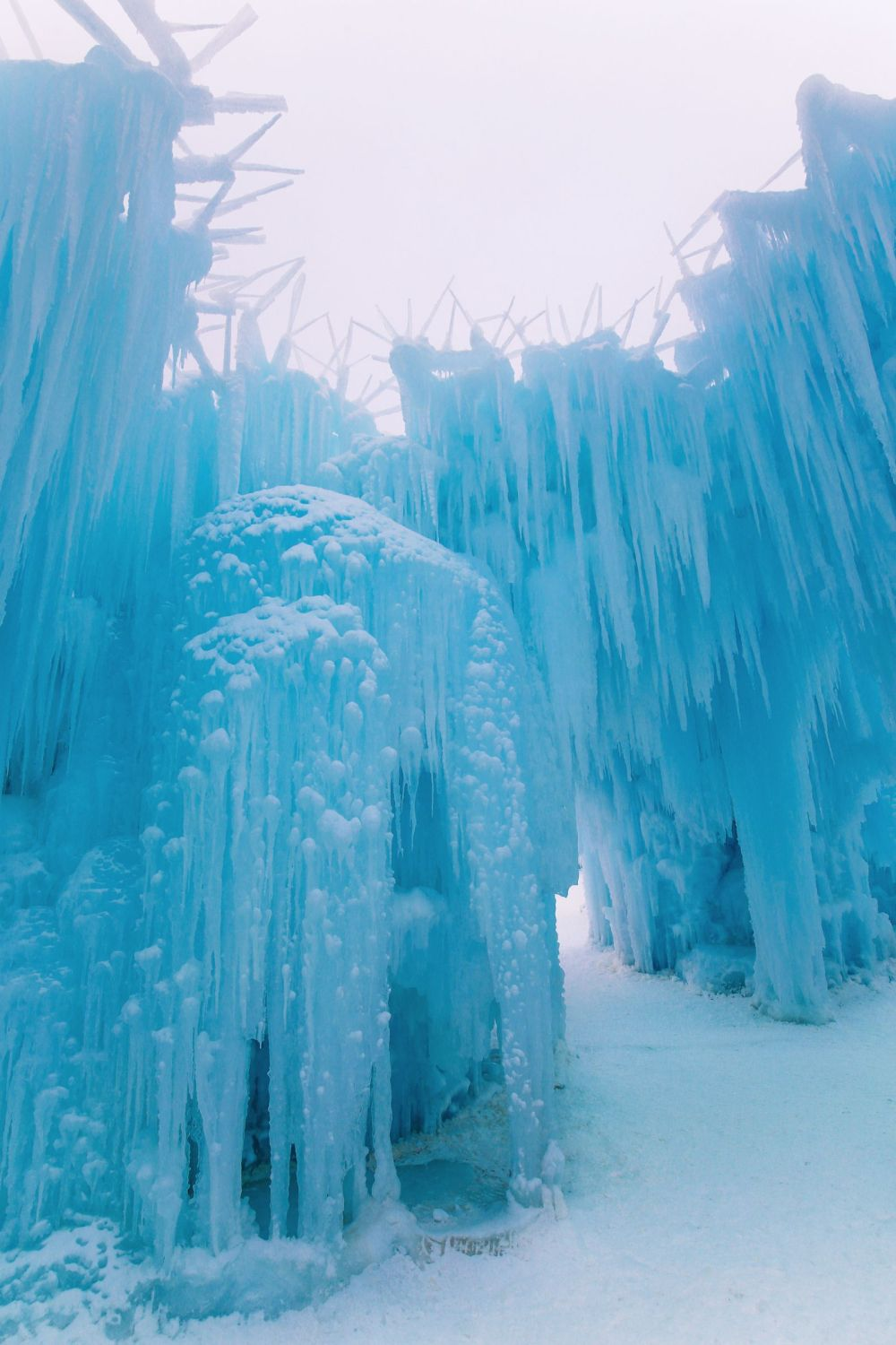 Fat Biking Across The Frozen River Valley To The Ice Castles Of Edmonton, Canada (62)