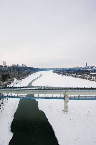 Fat Biking Across The Frozen River Valley To The Ice Castles Of Edmonton, Canada (70)
