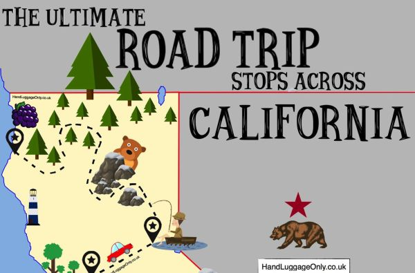 The Ultimate Road Trip Map Of Places To See In California