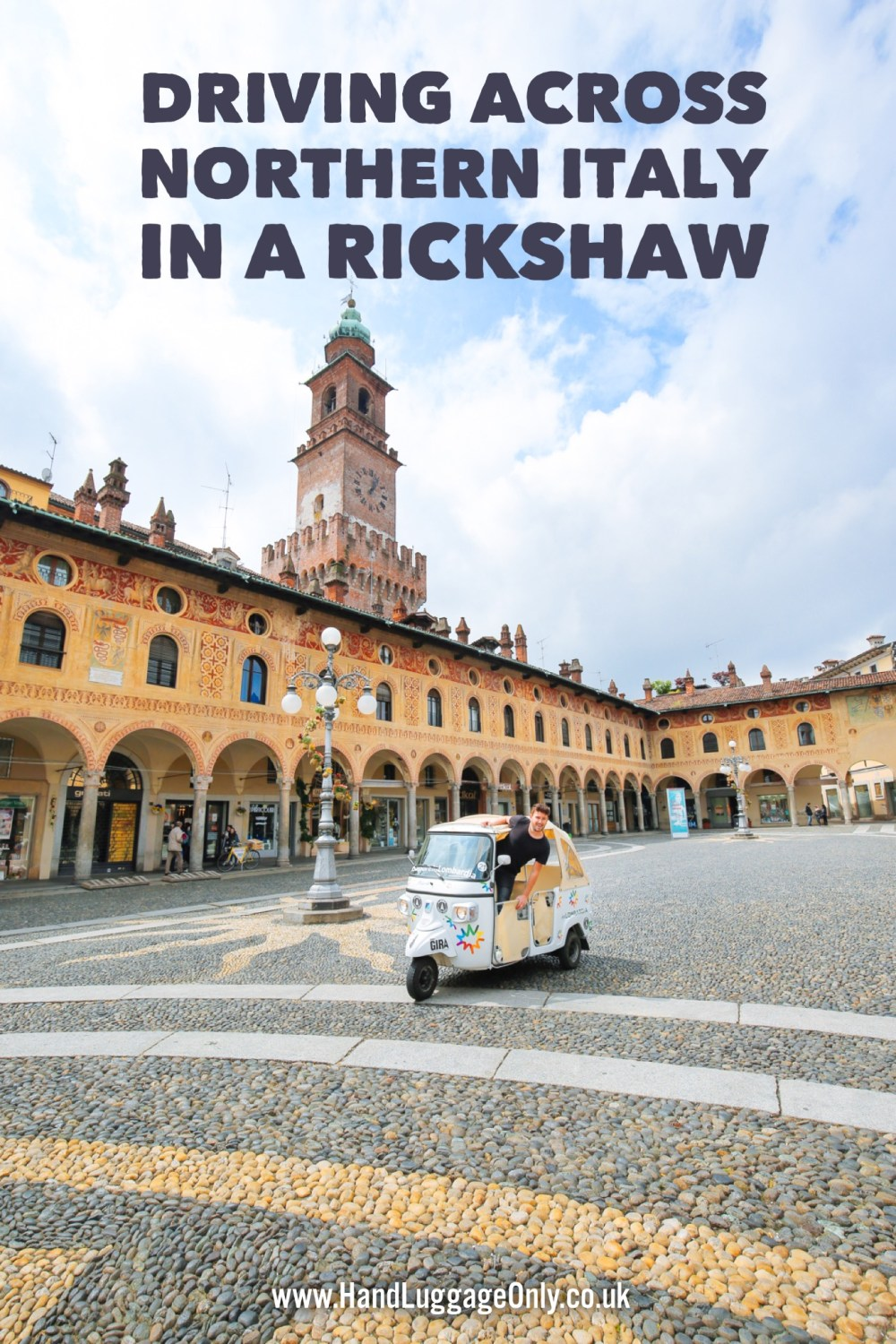 Driving Across Northern Italy... In A RIckshaw! (2)
