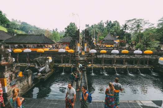 Finding A Secret Waterfall in Bali, Tirta Empul Temple And Mount Batur Volcano (3)