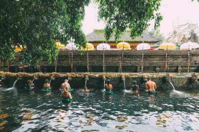 Finding A Secret Waterfall in Bali, Tirta Empul Temple And Mount Batur Volcano (6)