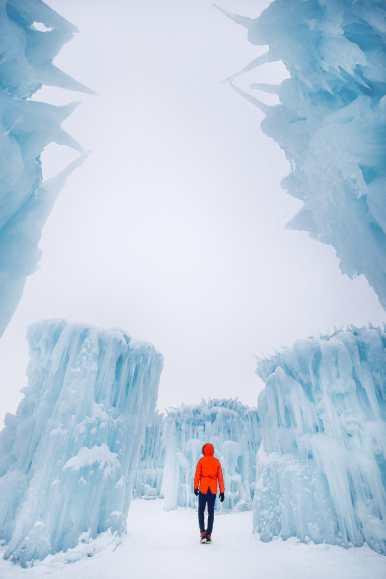 Ice Castle In Alberta, Canada (2)