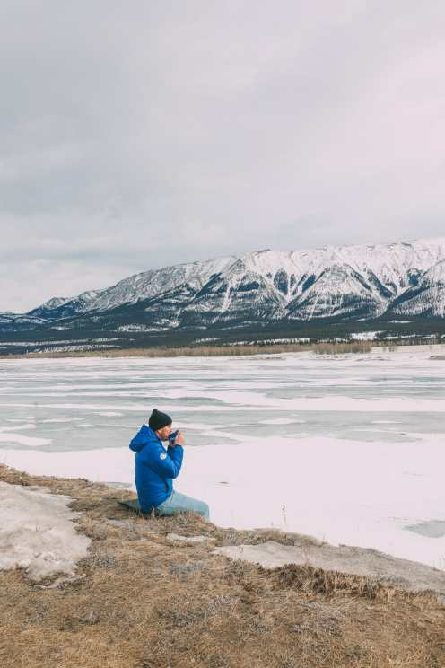 Driving Canada's Epic Icefields Parkway And Finding The Frozen Bubbles Of Abraham Lake (19)