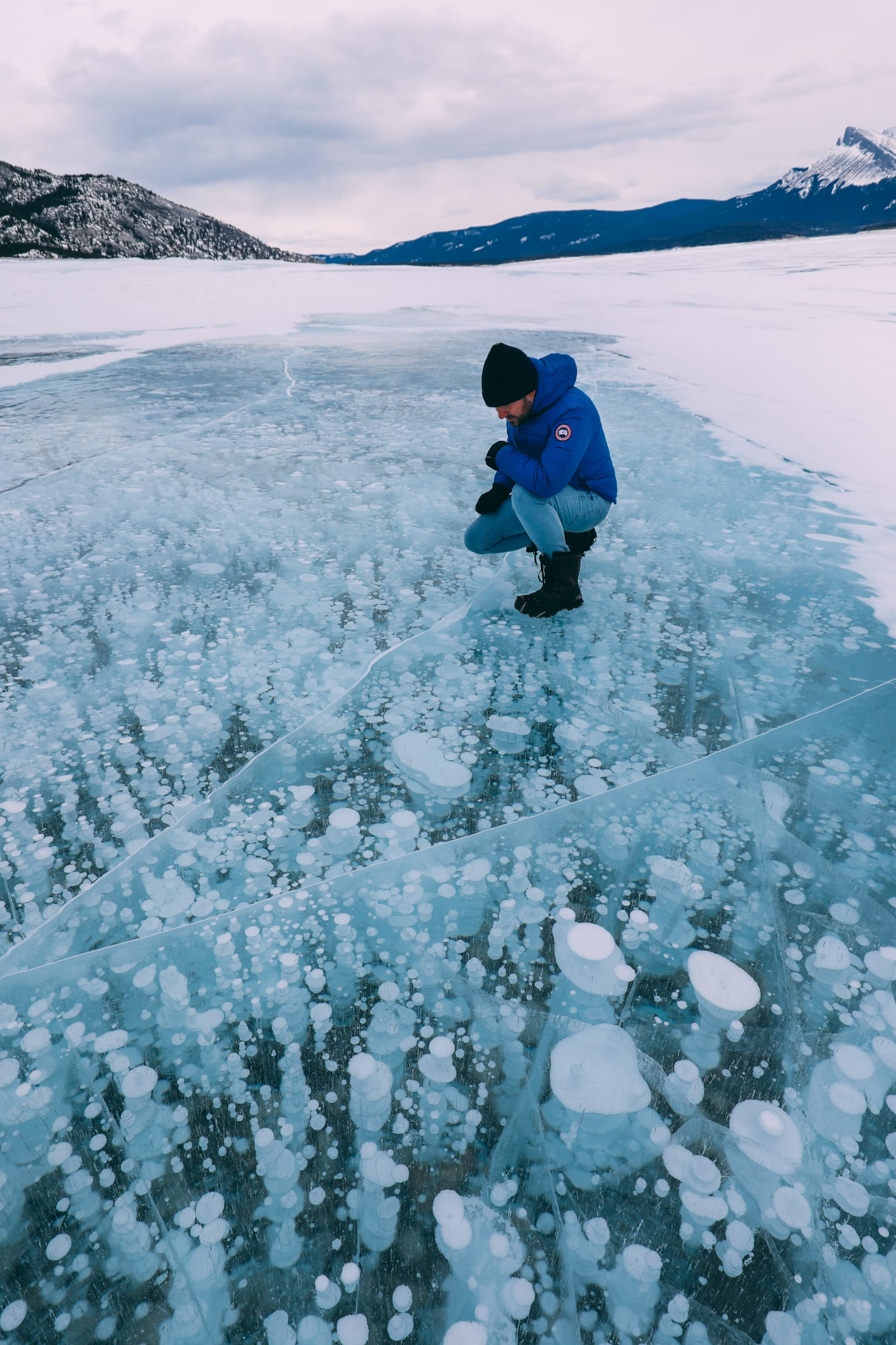 Driving Canada's Epic Icefields Parkway And Finding The Frozen Bubbles Of Abraham Lake (30)