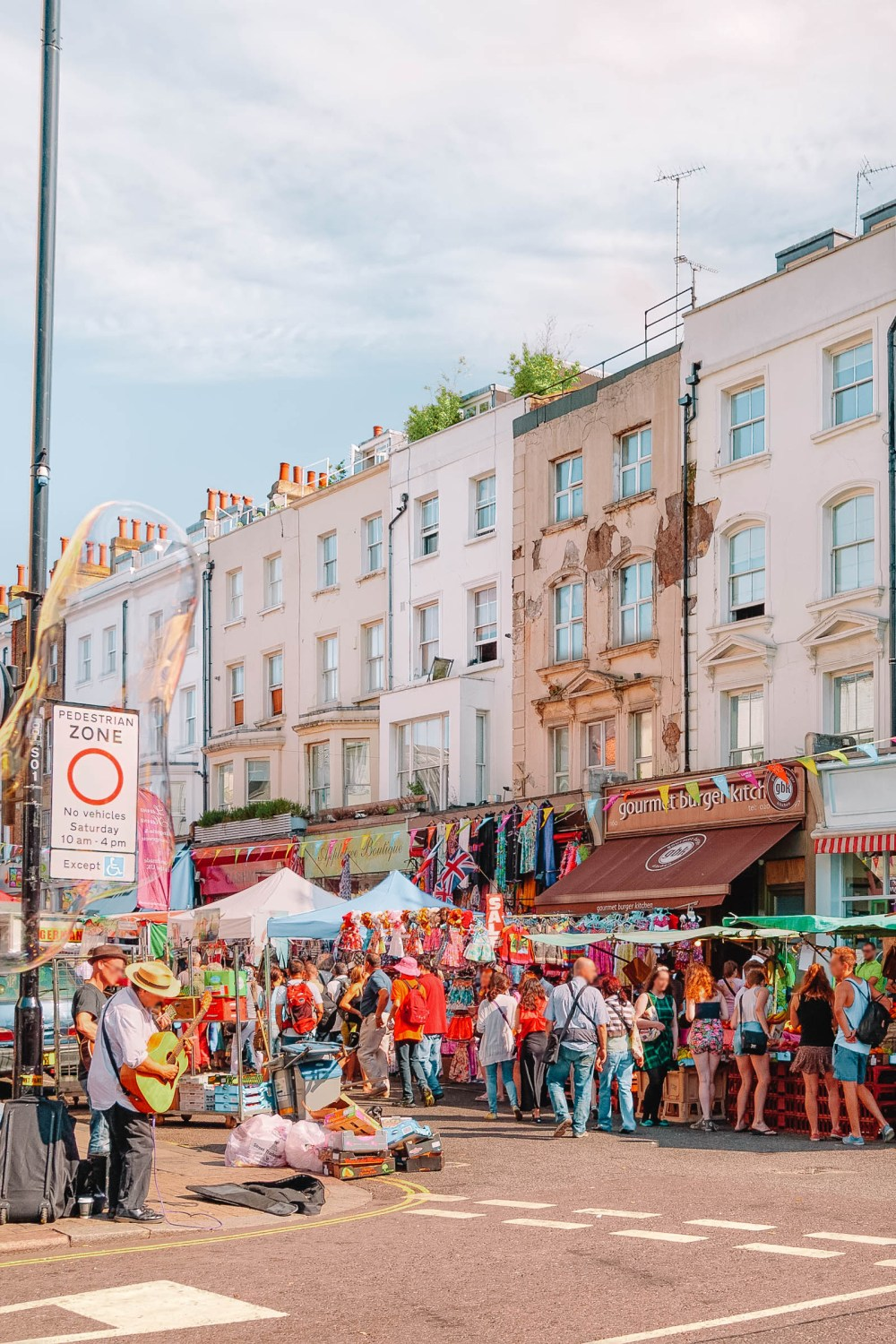 Portobello Street Market in West London