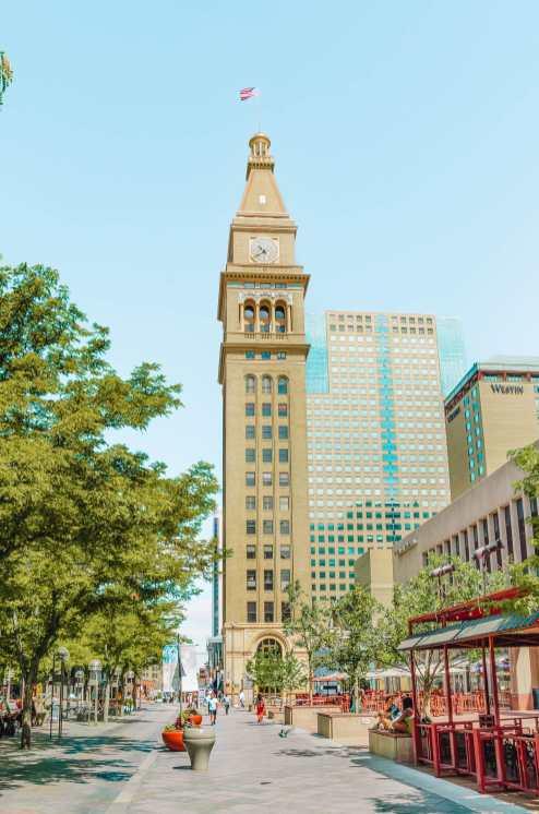 Clocktower In Denver, Colorado