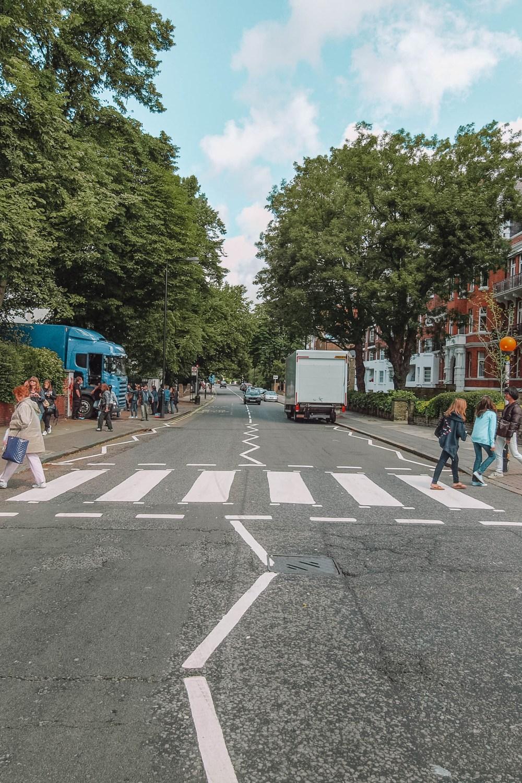 Abbey Road Beatles Crossing London