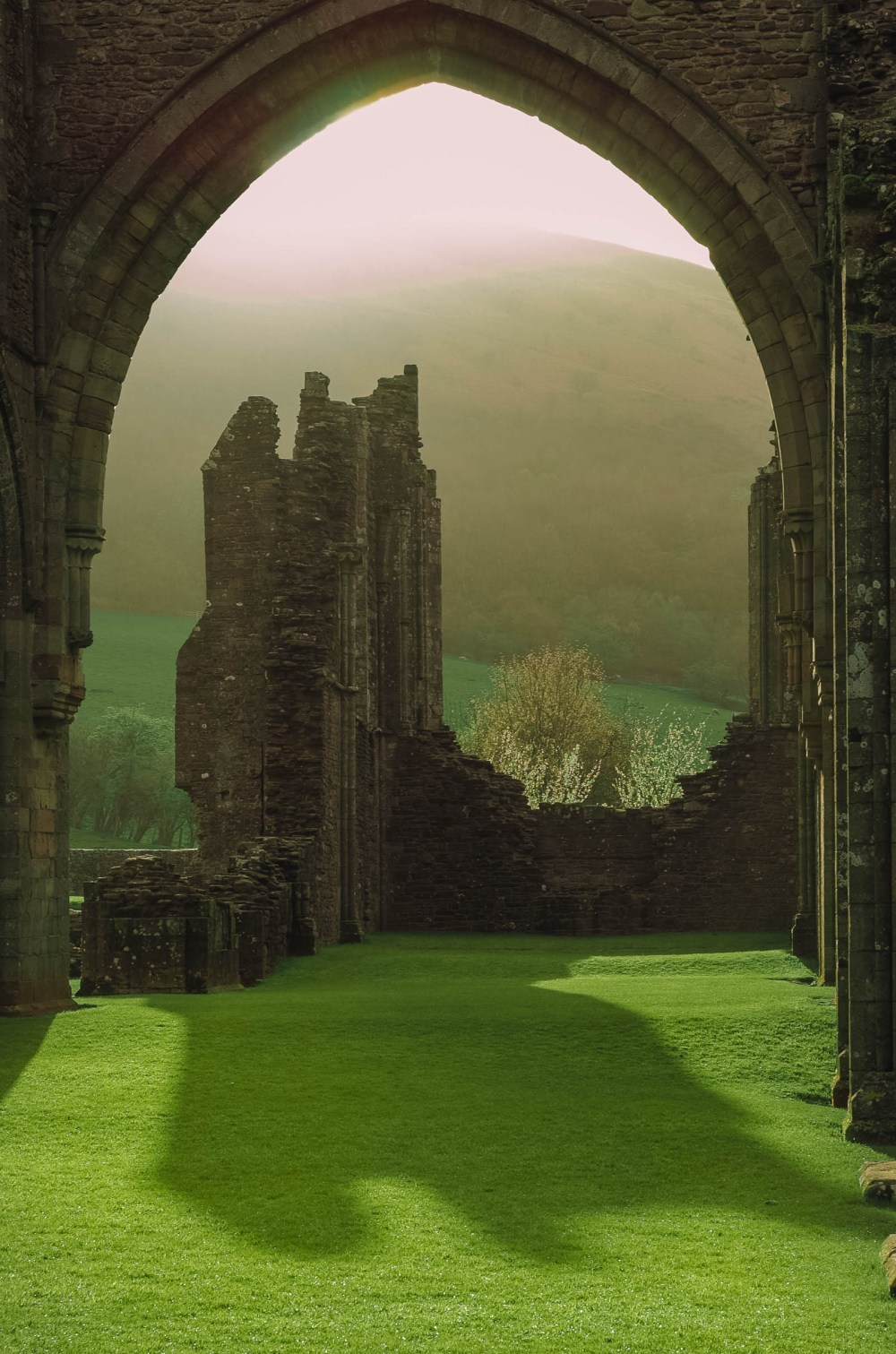 Priory and ruins in the Brecon Beacons
