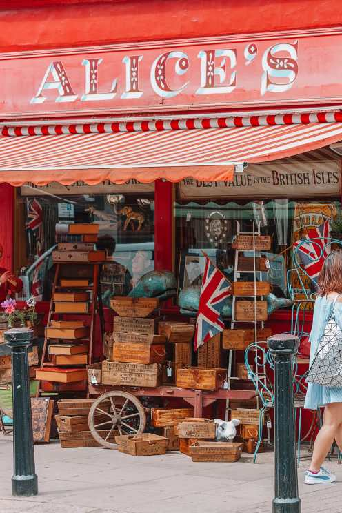 Alice's antiques in West London