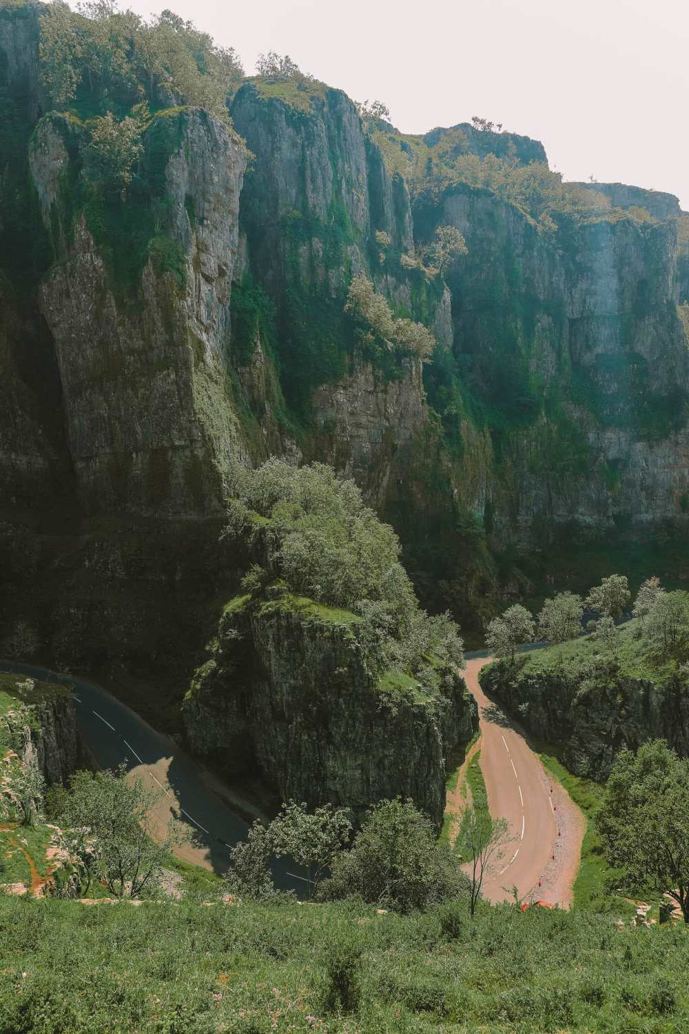 Cheddar Gorge near the city of Wells