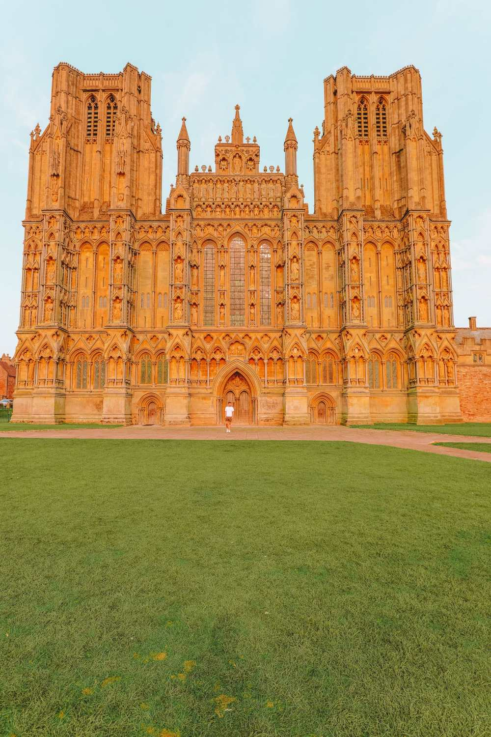 Wells Cathedral in Somerset in England