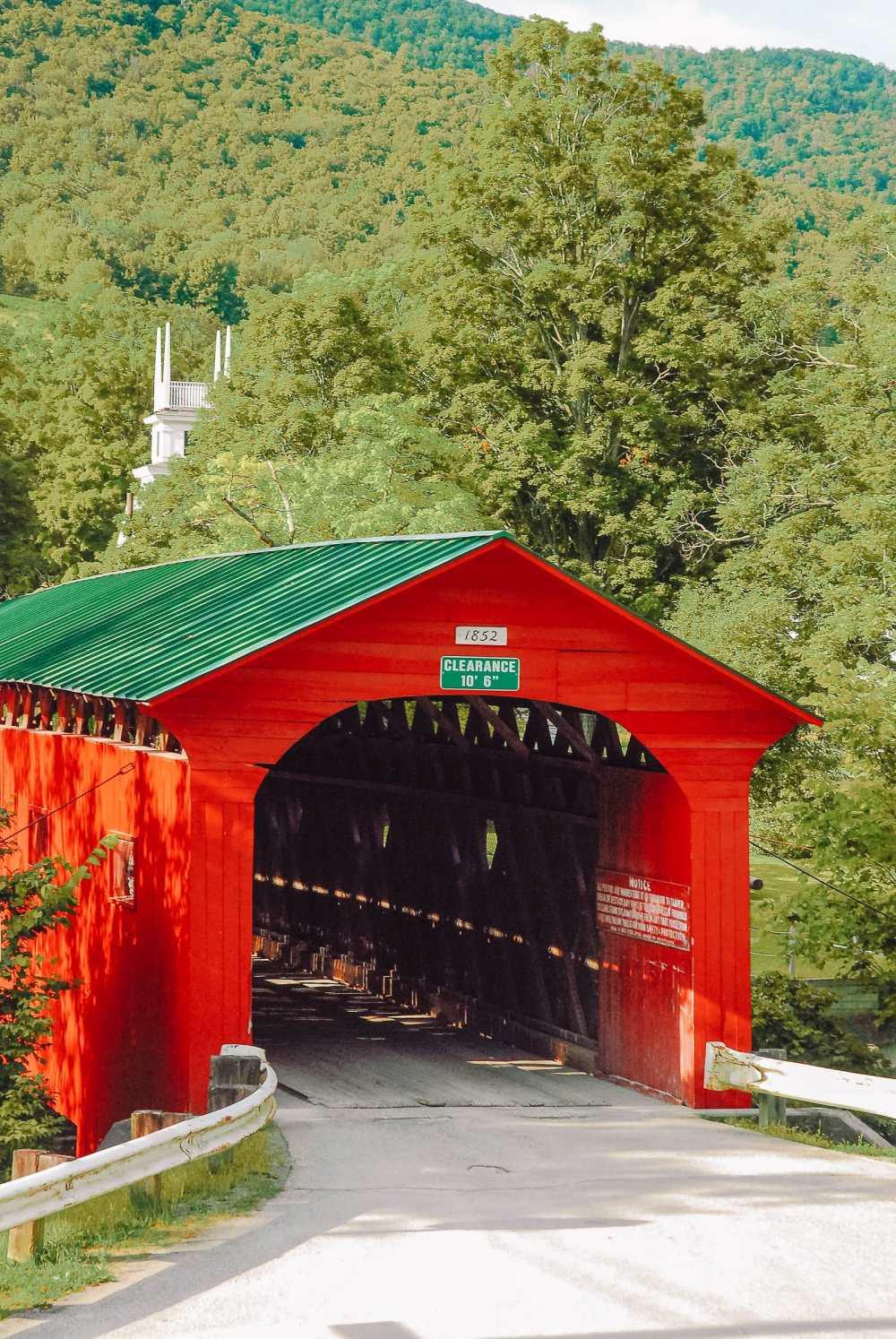 Pretty covered bridge in Vermont