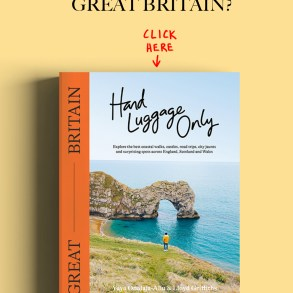 Hand Luggage Only Great Britain Travel Book Advert Banner