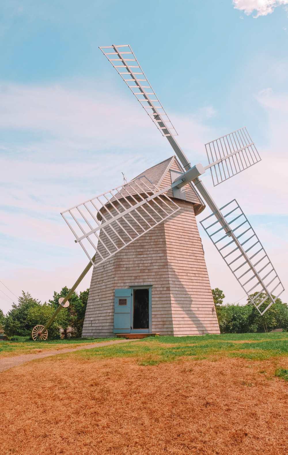 Windmill In Cape Cod In Massachusetts