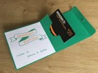 Glückwunschkarte mit Gutscheinkarte