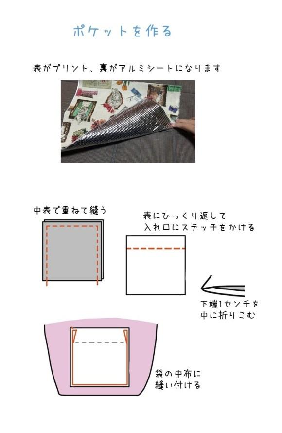 買い物バッグ・保冷・作り方 (3)