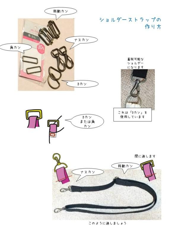 保育園バッグ・作り方・ショルダー (1)