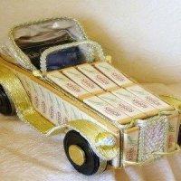 Автомобиль-кабриолет и другие машинки из конфет своими руками - МК и идеи