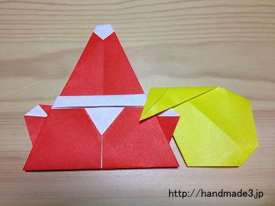 折り紙で作ったサンタクロース