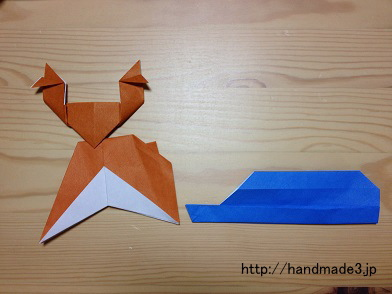 折り紙でトナカイとそり