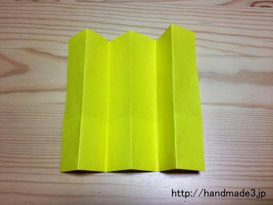 折り紙でひな祭りのびょうぶを折った