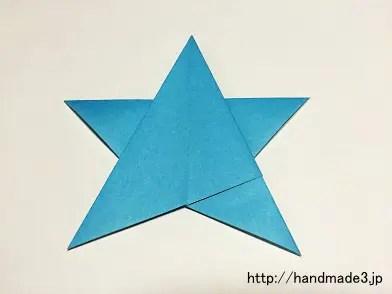 折り紙で一枚星を折った