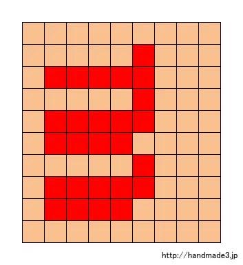 mのアルファベット文字の図案