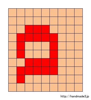 aのアルファベット文字の図案