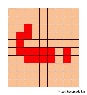 jのアルファベット文字の図案