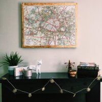 Original, Vintage & Rare Maps on Canvas by Seaphloor