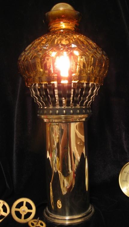 Steampunk Lamp Airship Light Industrial Art  Handmade