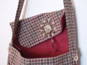 Shoulder bag - tweed