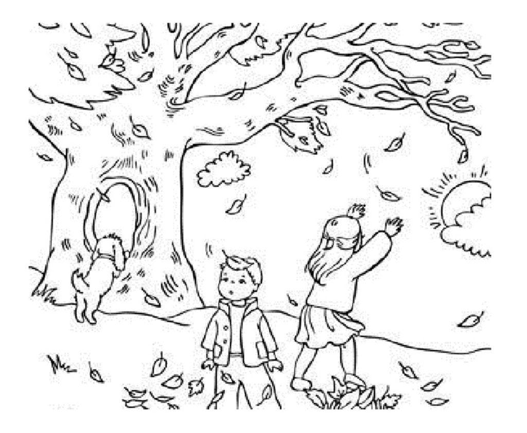 In Gr Dini Pagini De Colorat Toamna Pentru Copii Imprimate