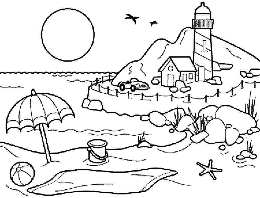 ฤดูร้อนสำหรับเด็ก ดาวน์โหลดระบายสีฤดูร้อนฟรี