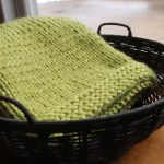 Simple Square Knitted Baby Blanket Pattern Handmade By Anne Potter