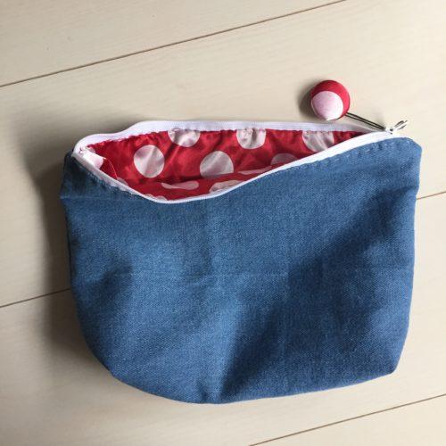 ミシンを使わないでも手縫いで出来るファスナーポーチの作り方