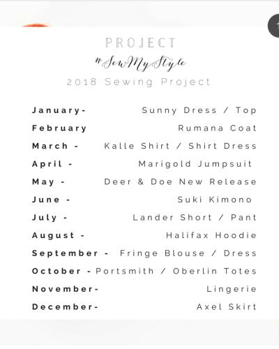 January | 2018 #SewMyStyle