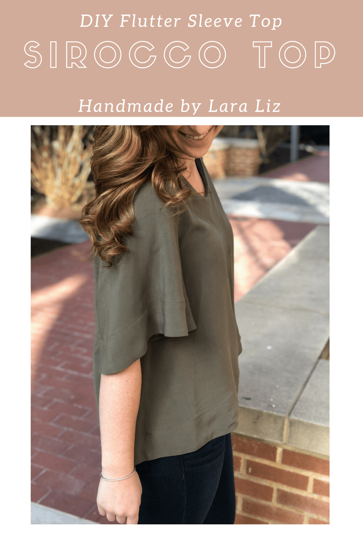 DIY Flutter Sleeve Spring Top